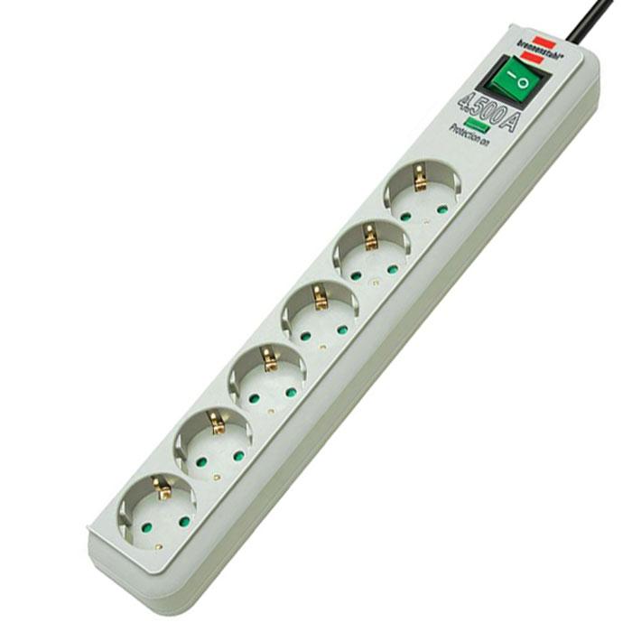Сетевой фильтр  Eco-Line  универсальный, 6 гнезд, 1,5 м, цвет: серый - Сетевые фильтры, тройники и удлинители