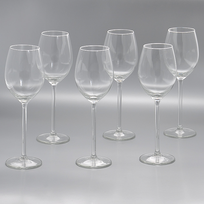 Набор бокалов Allure, 320 мл, 6 штГл 450033Набор Allure, изготовленный из высококачественного стекла, состоит из шести бокалов на высоких ножках. Бокалы предназначены для подачи напитков. Они сочетают в себе элегантный дизайн и функциональность. Благодаря такому набору пить напитки будет еще вкуснее.Набор бокалов Allure идеально подойдет для сервировки стола и станет отличным подарком к любому празднику. Характеристики:Материал: стекло. Диаметр бокала по верхнему краю:5,5 см. Диаметр основания бокала:7,5 см. Высота бокала:23 см. Объем бокала:320 мл. Комплектация:6 шт. Размер упаковки: 23,5 см х 16 см х 23,5 см. Артикул: Гл 450033.