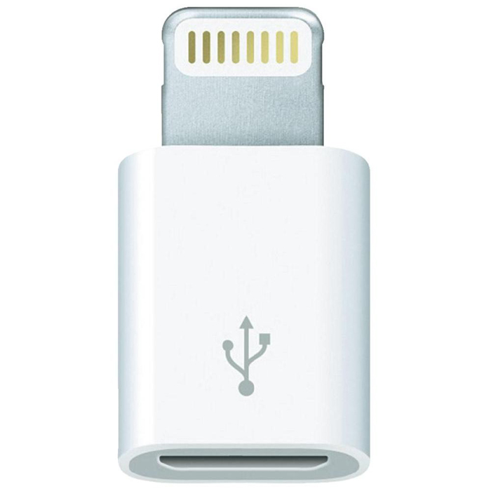 Apple Lightning to Micro USB Adapter (MD820ZM/A) аксессуар aldom micro usb lightning 511admns5013 gold