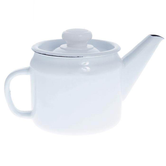 Заварочный чайник выполнен из высококачественной стали и покрыт эмалью. Чайник имеет классическую форму, оснащен удобной ручкой и крышкой. Такой чайник не требует особого ухода и его легко мыть.Благодаря классическому дизайну и удобству в использовании чайник займет достойное место на вашей кухне.   Характеристики:Материал: эмалированная сталь. Объем: 1 л. Высота чайника (без крышки): 11 см. Диаметр чайника по верхнему краю: 11,4 см. Артикул: С-2707П2/Рч.
