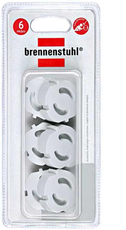 Заглушки для евро-розетки  Brennenstuhl , 6 шт -  Блокирующие и защитные устройства