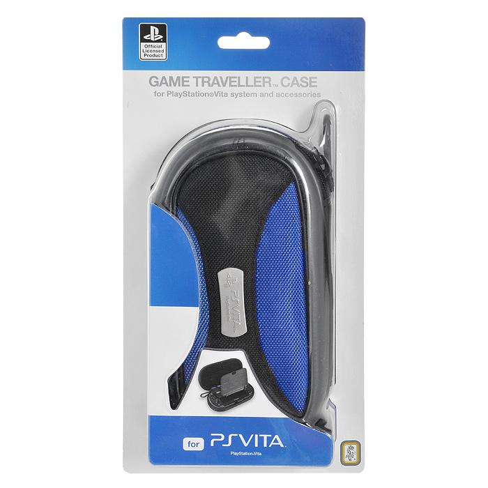 Сумка-чехол Soft для PS VitaPSV140Ударопрочная сумка-чехол для Sony PlayStation Vita надежно защитит вашу приставку от ударов, царапин и других повреждений.Съемный карабинОтделение для хранения аксессуаровОтделение для хранения 16 картриджейВыполнен из ЭВА-материала, искусственной кожи и текстиляВнутренняя отделка - мягкий синтетический материалОфициально лицензированный продукт компанииSony