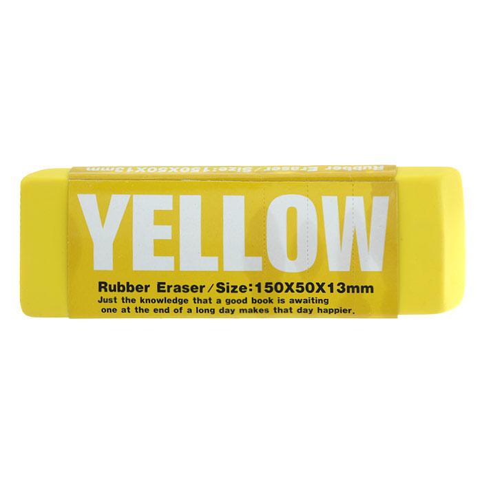 Ластик Гигант, цвет: желтый. 002238002238Ластик Гигант с приятным фруктовым ароматом станет незаменимым аксессуаром на рабочем столе не только школьника или студента, но и офисного работника. Ластики оригинального дизайна поднимут настроение и станут оригинальными сувенирами.Характеристики:Материал: резина. Размер ластика: 15 см х 5 см х 1,3 см. Артикул: 002238.
