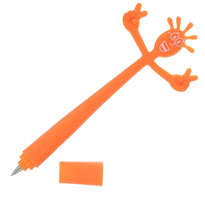 Ручка шариковая Человечек, цвет: оранжевый002330Оригинальная одноразовая ручка Человечек - приятная мелочь для людей с чувством юмора и ценящих необычные идеи в повседневных вещах. Гибкий корпус выполнен из прочного пластика в виде смешного человечка.Такая ручка станет отличным подарком для любого офисного сотрудника. Характеристики: Длина ручки: 20 см. Материал корпуса: пластик. Производитель:Китай. Артикул: 002330.