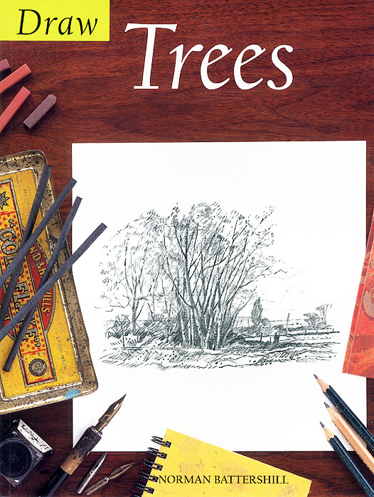 Draw Trees 128 page chinese color pen flower entry paintings drawing book color pencil drawing basic introduction to hand painted books
