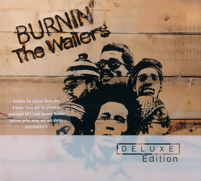 Боб Марли,The Wailers Bob Marley & The Wailers. Burnin'. Deluxe Edition (2 CD) bob marley gold 1967–1972 2 cd