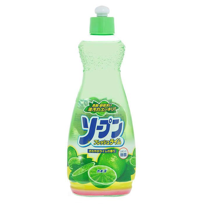 Жидкость для мытья посуды Kaneyo, свежий лайм, 600 мл гель для мытья посуды daiichi фреш элеганс с ароматом лайма 600 мл
