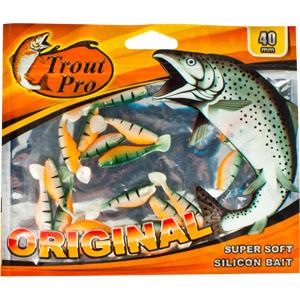 Риппер Trout Pro Original, длина 4 см, 20 шт. 3522635226Приманка предназначена для джиговой ловли хищной рыбы: окуня, судака, щуки. Специальная пластина придает приманке колебательные движения, усиливая ее сходство с живой рыбкой. Характеристики:Длина: 4 см. Цвет тела: 142 (огненный окунь). Материал: эластичный полимер. Размер упаковки: 16,8 см х 14 см х 0,4 см. Производитель: Китай. Артикул: 35226.