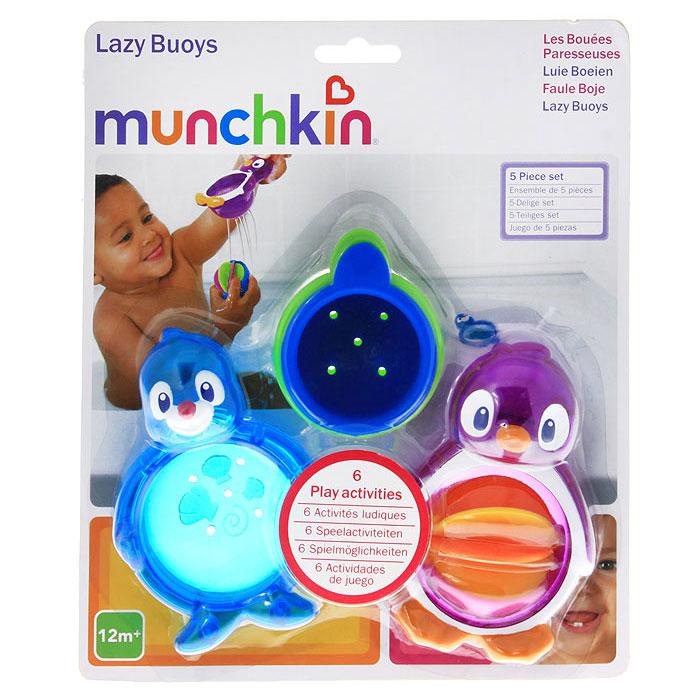 Набор игрушек для ванны Munchkin Морские животные, 5 шт. 11306 munchkin набор игрушек для ванны морские животные 8 шт