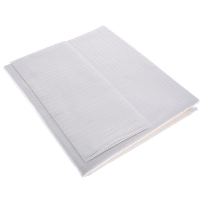 """Комплект детского постельного белья """"Сатин"""" отличается своей изысканностью. Белая шелковистая ткань в полоску, приятная на ощупь, создает праздничное настроение. В комплект входят пододеяльник и наволочка. Комплект подходит для подростковой и полуторной кровати. Экологически чистое производство и соответствие международным стандартам, подтверждены сертификатом ISO 14001. Комплект постельного белья """"Сатин"""" станет для вашего ребенка прекрасным подарком, с которым его ждет сладкий сон на всю ночь.   Характеристики:Материал: 100% хлопок. Размер наволочки: 40 см х 45 см. Размер пододеяльника: 100 см х 140 см."""
