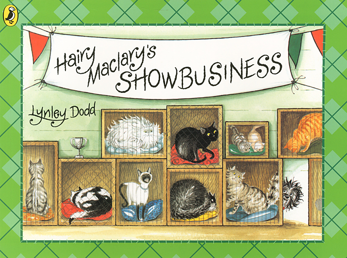 Hairy Maclary's Showbusiness a cat a hat and a piece of string