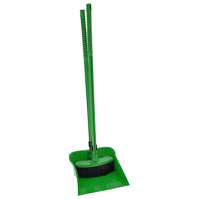 Набор Комфорт: щетка, совок, цвет: зеленыйМ1192Набор Комфорт включает: щетку и совок зеленого цвета.Совок и щетка оснащены резьбой, поэтому длинные ручки можно снимать, а также есть специальное отверстие, которое позволяет повесить набор на крючок. С набором Комфорт уборка займет гораздо меньше времени и сил. Характеристики:Материал: пластик, синтетический ворс. Цвет: зеленый. Длина ручки совка: 67 см. Размер совка: 24 см x 22 см x 9 см. Длина ручки щетки: 69 см. Размер ворса: 18,5 см x 7 см х 7 см. Производитель: Россия. Артикул: М1192.