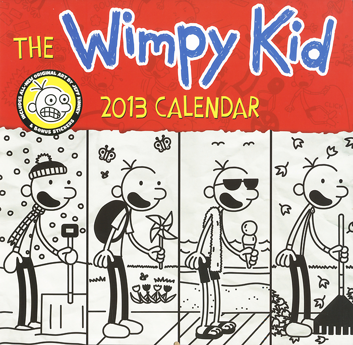 Календарь 2013 (на скрепке). The Wimpy Kid (+ наклейки) kinney j diary of a wimpy kid