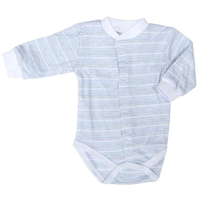 Боди детское Фреш Стайл, цвет: голубой в полоску. 39-327. Размер 86, 18 месяцев красное боди emma xxl 3xl