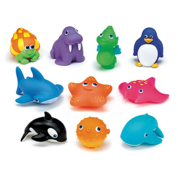 Набор игрушек для ванны Munchkin Морские животные, 10 шт munchkin набор игрушек для ванны морские животные 8 шт