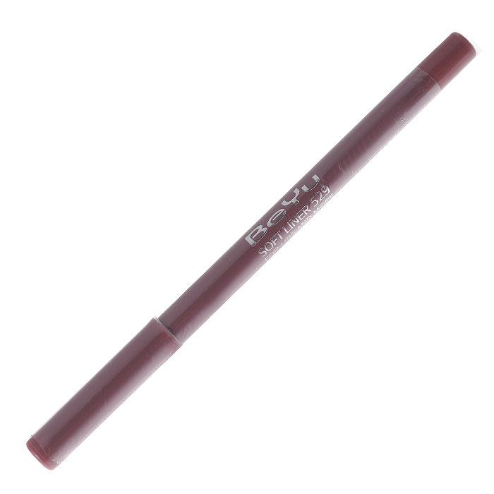BeYu Карандаш для губ Soft Liner, универсальный, тон №529, 1,2 г34529Мягкая текстура карандаша Soft Liner легко и приятно наносится на нежную кожу губ. Благодаря стойкой формуле карандаш фиксируется уже через минуту и становится водостойким. При этом при необходимости он легко растушевывается. Широкая цветовая палитра дает возможность идеально подобрать карандаш к помаде, а удобная пластиковая упаковка защищает грифель от сколов. Товар сертифицирован.