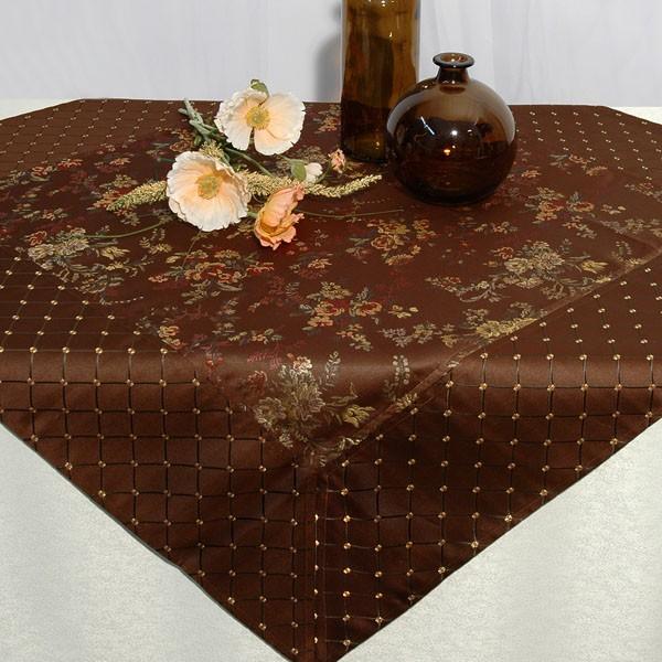 Скатерть Schaefer, шелковая вышивка цветов, 100 x 100 см. 06034-102 фэмили хобби 07563 102 скатерть 100 100см 100