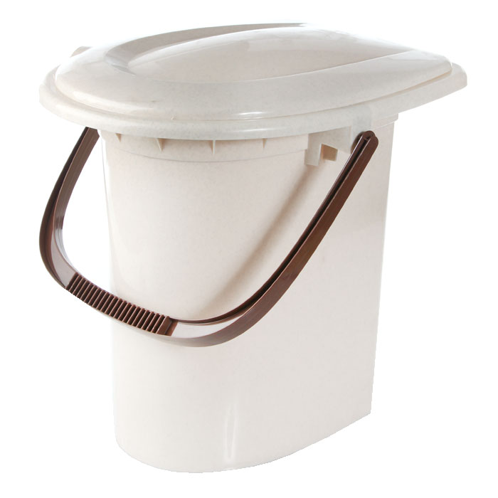 Ведро-туалет, 16 л, цвет: бежевый. М2459 наволочка style цвет бежевый 52 см х 74 см
