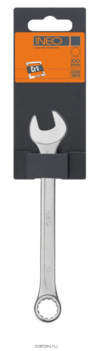 Ключ комбинированный Neo, 14 мм09-714Ключ комбинированный Neo станет отличным помощником монтажнику или владельцу авто. Этот инструмент обеспечит надежную фиксацию на гранях крепежа. Благодаря изогнутой с одной стороны головке, Вы обеспечите себе удобный доступ к элементам крепежа и безопасность. Специальная хромованадиевая сталь повышает прочность и износ инструмента. Характеристики: Материал: хром ванадий. Размер: 18 см х 3 см х 0,8 см. Размер упаковки: 18 см х 5 см х 1 см.
