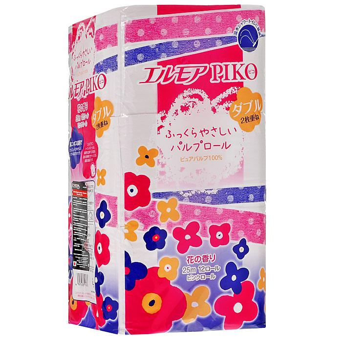 """Необыкновенно мягкая, нежная и шелковистая бумага """"Ellemoi Piko"""" изготовлена из экологически чистого, высококачественного сырья - древесной целлюлозы. Бумага прекрасно подходит для нежной кожи детей и для людей с повышенной чувствительностью кожи. Не содержит флуоресцентных добавок и красителей. Обладает легким ароматом полевых цветов. Не раздражает чувствительную кожу, не вызывает аллергии. Хорошо перфорирована, не расслаивается и отрывается строго по просечке. Бумага полностью и быстро растворяется в воде, не забивая стоки. При производстве туалетной бумаги торговой марки """"Nepia"""" используется только натуральные красители и ароматизаторы. Характеристики:   Материал:  100% целлюлоза. Длина рулона:  25 м. Количество слоев:  2. Количество рулонов:  12 шт. Артикул:  427291."""