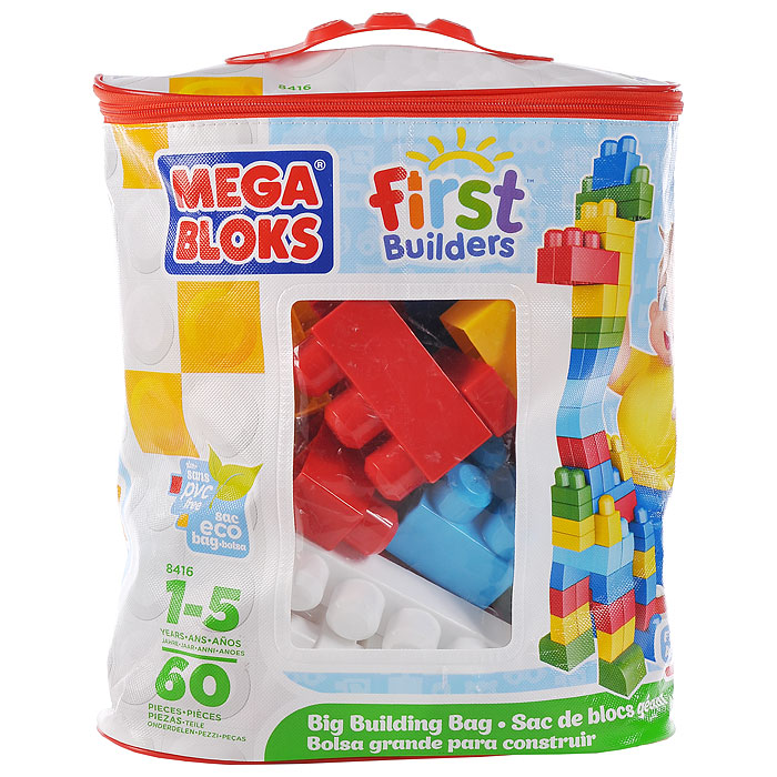 Конструктор Mega Bloks Эко, 60 элементов конструктор mega bloks first builders веселые качели 29 элементов