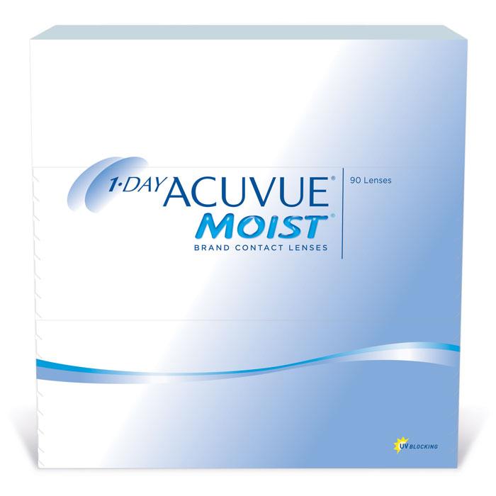 Johnson & Johnson контактные линзы 1-Day Acuvue Moist (90шт / 9.0 / -3.00)12079Контактные линзы 1-Day Acuvue Moist для ежедневной замены от известной компании Johnson & Johnson Vision Care созданы для того, чтобы ваши глаза чувствовали себя увлажненными, а ощущение комфорта и свежести не покидало весь день. Уже исходя из названия (moist) становится понятно, что при изготовлении линз используется дополнительный увлажнитель, благодаря которому влага удерживается внутри линзы даже в конце дня. Если ваши глаза подвергаются высоким нагрузкам в течение дня, то именно 1-Day Acuvue Moist подойдут вам лучше всего. Они обладают всеми преимуществами однодневных линз: не требуют дополнительных расходов по уходу, комфортны в ношении и так же, как и 1-Day ACUVUE, снабжены солнечным фильтром. Характеристики:Материал: этафилкон А. Кривизна: 9.0. Оптическая сила: - 3.00. Содержание воды: 58 %. Диаметр: 14.2 мм. Количество линз: 90 шт. Размер упаковки: 15,5 см х 15,5 см х 3,2 см.Контактные линзы или очки: советы офтальмологов. Статья OZON Гид