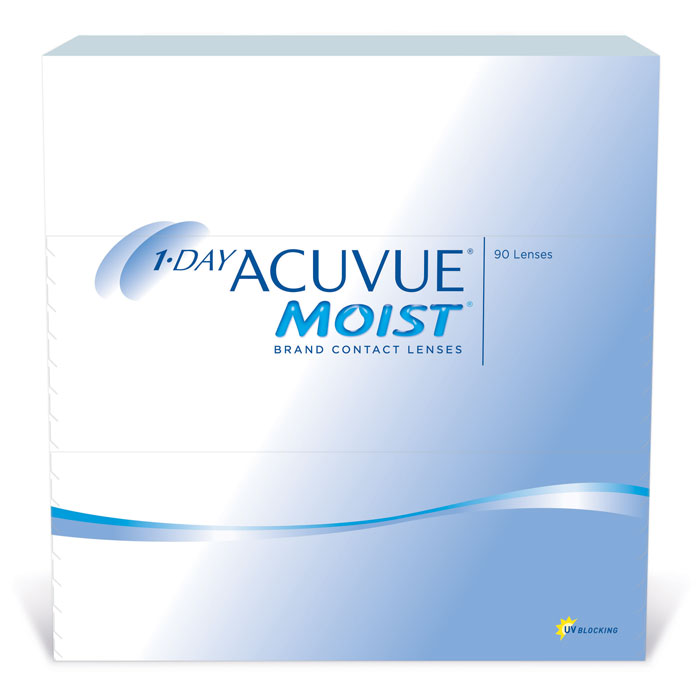 Johnson & Johnson контактные линзы 1-Day Acuvue Moist (90шт / 9.0 / -3.25)