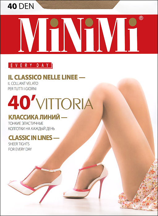 Колготки Minimi Vittoria 40, цвет: светло-бежевый (caramello). Размер 4 (L) чулки omsa malizia размер 4 плотность 20 den caramello