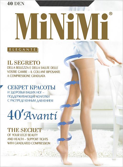Колготки Minimi Avanti 40, цвет: серая дымка (fumo). Размер 4 (L)Avanti 40Эластичные поддерживающие колготки Avanti 40 с распределенным давлением, гигиеничной ластовицей, плоским швом иукрепленным мыском. Сформированная ступня. Плотность:40 ден.