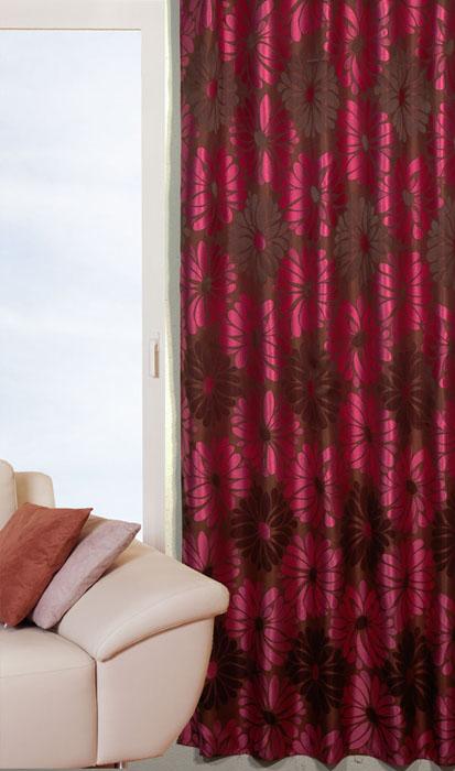 Гардина Schaefer на петлях, цвет: коричневый, 140 см х 235 см. 06666-60306666-603Гардина Schaefer выполнена из полиэстера коричневого цвета с рисунком в виде крупных розовых цветов. В верхнюю часть гардины вшиты специальные петли. Для подвешивания гардины достаточно лишь продеть в них карниз. Гардина прекрасно подойдет для подвешивания на настенный карниз.Оригинальное оформление гардины внесет разнообразие и подарит заряд положительного настроения. Характеристики:Материал: 100% полиэстер. Размер гардины (Ш х В): 140 см х 235 см. Цвет: коричневый. Ширина петли: 4,5 см. Длина петли: 10 см. Артикул: 06666-603. Немецкая компания Schaefer создана в 1921 году. На протяжении всего времени существования она создает уникальные коллекции домашнего текстиля для гостиных, спален, кухонь и ванных комнат. Дизайнерские идеи немецких художников компании Schaefer воплощаются в текстильных изделиях, которые сделают ваш дом красивее и уютнее и не останутся незамеченными вашими гостями. Дарите себе и близким красоту каждый день!