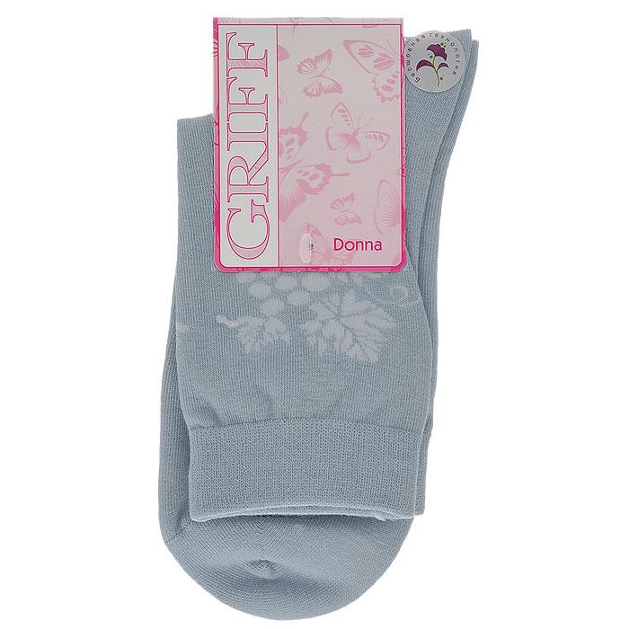 Носки женские Griff Виноград, цвет: серо-голубой. D265. Размер 35/38D265Женские носки Griff Виноград изготовлены из высококачественного сырья. Носки очень мягкие на ощупь, а широкая резинка плотно облегает ногу, не сдавливая ее, благодаря чему вам будет комфортно и удобно. Усиленная пятка и мысок обеспечивают надежность и долговечность.Носки сбоку оформлены орнаментом с изображением винограда.