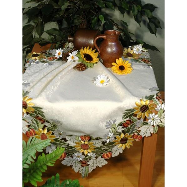 Скатерть Schaefer, квадратная, цвет: белый, 85  x 85 см. 05526-100 скатерти schaefer скатерть 85 85см 80
