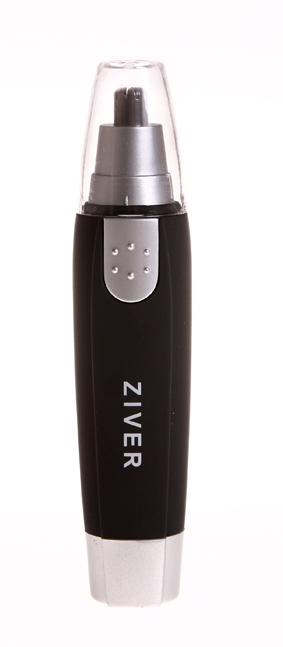 Триммер Ziver-107 для стрижки волос в носу и ушах10.ZV.007Триммер Ziver для стрижки волос в носу и ушах, с подсветкой поможет быстро и решительно избавиться от волосков в носу.Острые лезвия в одно мгновение срезают излишнюю растительность - и делают это очень чисто и быстро.Корпус триммера покрыт специальным прорезиненным составом, очень приятным на ощупь.К триммеру прилагается защитный колпачок и щеточка для чистки лезвий.Триммер работает от батарейки типа АА (не входит в комплект). Характеристики:Материал: пластик, металл. Размер триммера: 3 см х 3 см х 13 см. Размер упаковки: 18 см х 3 см х 7 см. Характеристики:Материал: пластик, металл. Размер триммера: 3 см х 3 см х 13 см. Размер упаковки: 18 см х 3 см х 7 см.