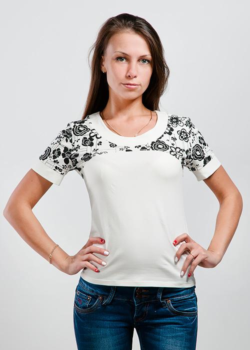 Футболка женская Lowry, цвет: шампань. LF-225. Размер M (44/46)LF-225Стильная женская классическая футболка с короткими рукавами, изготовленная из хлопка с добавлением лайкры, прекрасно подойдет для любого типа фигуры.Такая замечательная футболка станет как отличным украшением гардероба, так и восхитительным подарком. В ней вы всегда будет в центре внимания!
