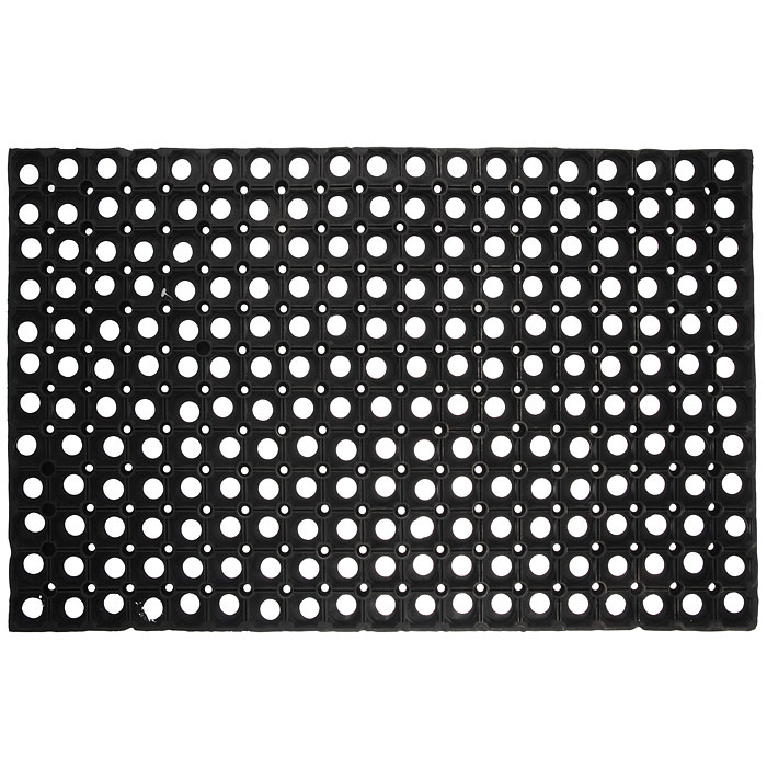 Коврик Vortex, грязесборный, цвет: черный, 50 х 80 см коврик vortex на ступеньку цвет черный 25 см х 75 см