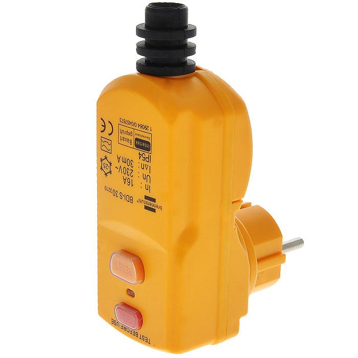 Вилка Brennenstuhl c защитой от поражения электрическим током1290640Вилка Brennenstuhl c защитой от поражения электрическим током. Идеальный выключатель для подключениячасто используемых электрооборудований.