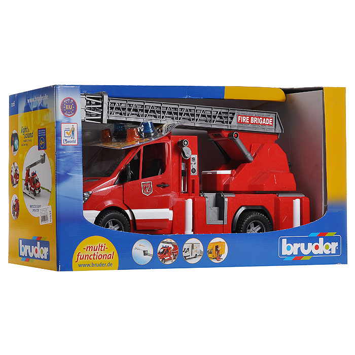 BruderПожарная машина с лестницей Bruder
