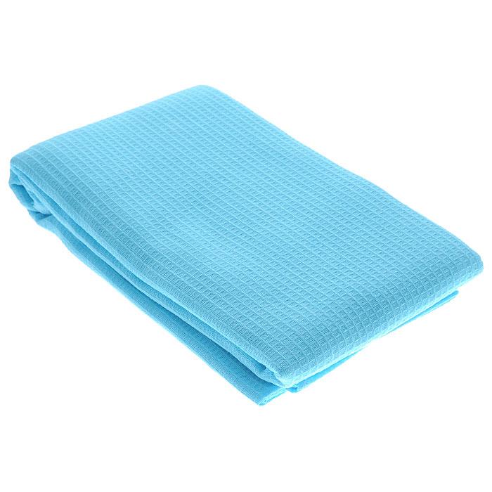 Полотенце-простыня для бани и сауны Банные штучки, однотонное, 80 х 150 см, голобой полотенца банные ecotex полотенце отель