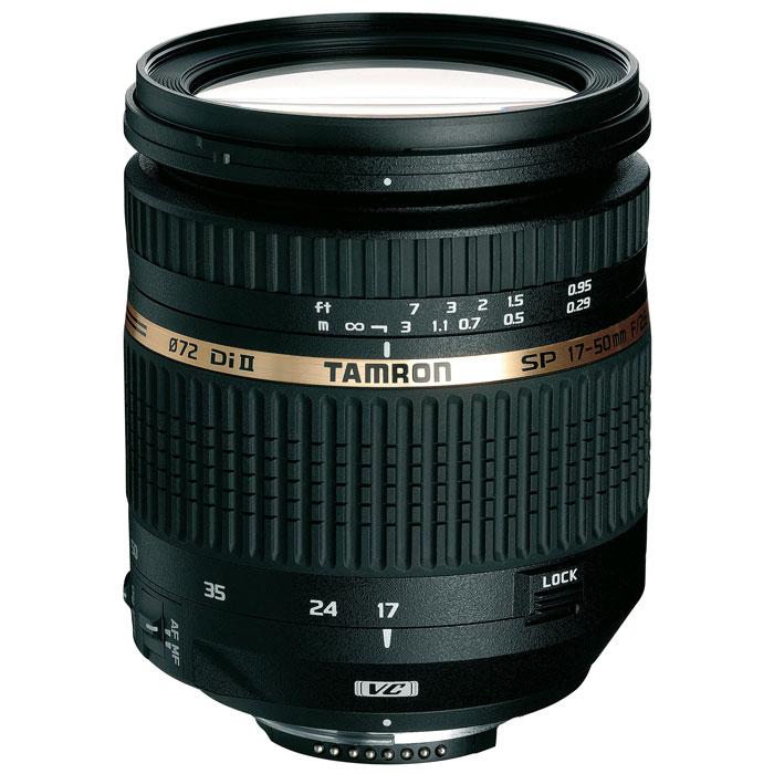 Tamron SP AF 17-50mm F/2.8 XR Di II LD VC Aspherical (IF) Nikon FB005NЗум-объектив Tamron SP AF 17-50mm F/2,8 XR Di II VC LD с большой светосилой и высокой четкостью, достигаемой благодаря максимальной диафрагме f/2.8 оснащен стабилизирующим механизмом подавления. Эта модель охватывает весьма популярный спектр фокусного расстояния 17-50 мм (эквивалентно 26-78 мм при полноформатной матрице 35 мм), делая его сверх универсальным. Его широкоугольная диафрагма и выдающееся качество съемки обеспечивают практичные преимущества на время съемки при слабом освещении и для контроля над эстетичностью изображения, таким образом обогащая сферу творческого выражения пользователя.Объектив Tamron SP AF 17-50mm F/2,8 XR Di II VC LD обеспечивает впечатляющую резкость изображения и поразительный контраст по всему спектру фокусных расстояний и диафрагмы, а при максимальном значении диафрагмы в f/2.8 он создает красивые изображения, усовершенствованные посредством небольшой глубины захвата и спокойного естественного перехода из областей изображения, расположившихся вне фокуса (т.е. превосходное боке).Объектив оснащен запатентованным Tamron механизмом Подавления Вибраций (VC) для стабилизации изображения, который контролирует эффект вибрации камеры в трех плоскостях. Функция VC предоставляет больше возможностей резкости изображения при ручной съемке при длительных выдержках, необходимых в условиях слабого освещения (например: ночная съемка или съемка в помещении), что значительно повышает уровень свободы фотографа.Объективы серии Di II предназначены исключительно для использования с цифровыми зеркальными фотокамерами, максимальный размер сенсора которых не более 16x24 мм (APS-C). Отверстие у этих объективов, соответственно, меньше, поэтому они не могут быть использованы на полноформатных камерах, поскольку на изображении будет заметно виньетирование (затемнение изображения по краям кадра).Стекло XR (с повышенным коэффициентом отражения) отражает лучи света под более крутым углом, что позв