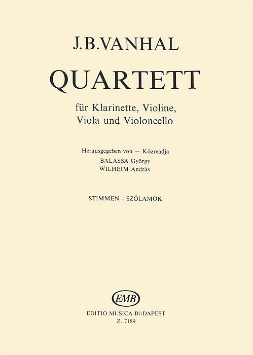J. B. Vanhal J. B. Vanhal: Quartett fur Klarinette, Violine, Viola und Violoncello пуховики joutsen пуховик judy fur