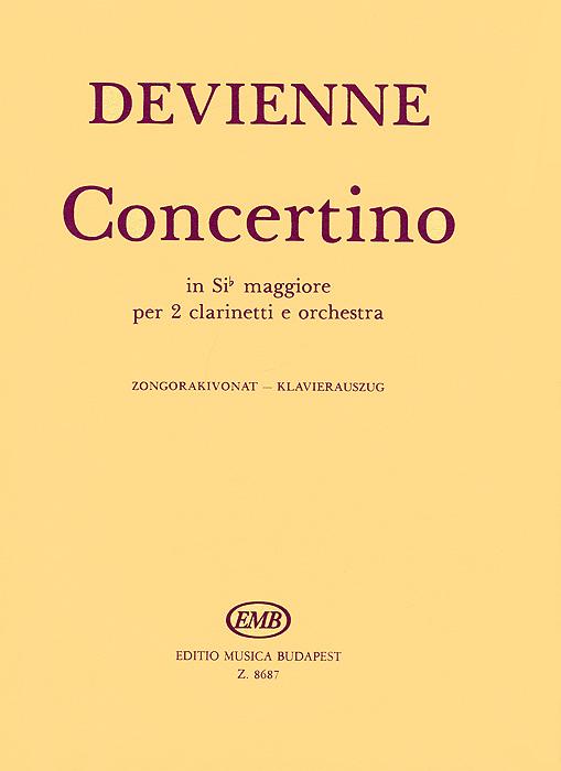 цена Devienne Devienne: Concertino in Sib Maggiore per 2 Clarinetti e Orchestra ISBN: 8687