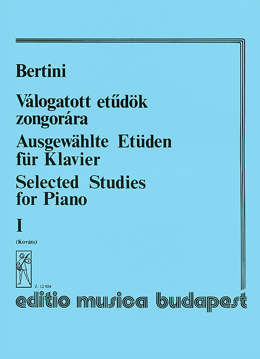 Zakazat.ru: Bertini: Valogatott etudok zongorara I. Henri Bertini