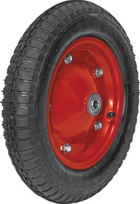 Колесо запасное для тачки Fit, 13 x 3, 150 кг77559Колесо Fit является запасным элементом для тачки. Имеет резиновую шину и камеру, крашенный диск (красный). Диаметр надувного колеса 100 x 350 мм. Шариковый стальной подшипник обеспечивает прочность и надежность конструкции. Грузоподъемность колеса составляет 150 кг. Для тачки универсальной 77540. Характеристики: Материал: резина, металл. Грузоподъемность: 150 кг. Размеры колеса: 35 см х 10 см х 10 см. Диаметр отверстия: 1,5 см. Размер упаковки:35 см х 10 см х 10 см.