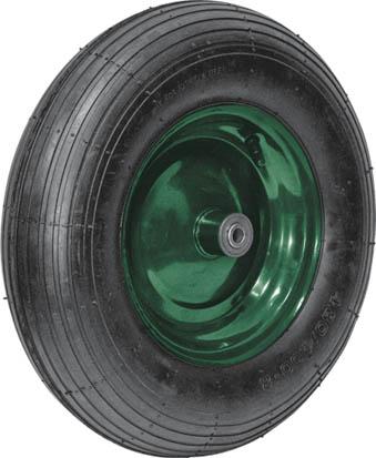 Колесо запасное для тачки Fit, 16 x 4, 150 кг77560Колесо Fit является запасным элементом для тачки. Имеет резиновую шину и камеру, крашенный диск (красный). Диаметр надувного колеса 100 x 350 мм. Шариковый стальной подшипник обеспечивает прочность и надежность конструкции. Грузоподъемность колеса составляет 150 кг. Для тачки универсальной 77550. Характеристики: Материал: резина, металл. Грузоподъемность: 150 кг. Размеры колеса: 40 см х 10 см х 10 см. Размер упаковки:40 см х 10 см х 10 см.