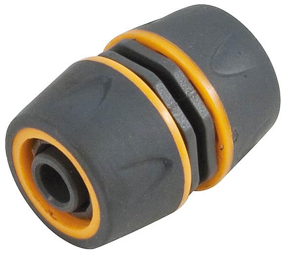 Муфта ремонтная пластиковая двухкомпонентная Fit, цвет: серо-оранжевый, 1/2-3/477749Муфта ремонтная 1/2-3/4 применяется для быстрого и надежного соединения двух участков шланга. Муфта выполнена из ABS пластика с прорезиненными вставками. Характеристики: Материал: ABS пластик, резина. Размер муфты: 6 см х 3 см / 4 см х 3 см / 4 см. Размер в упаковке: 9 см х 12 см х 4 см.