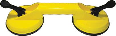 Стеклодомкрат FIT двойной16960Стеклодомкрат FIT предназначен для захвата, переноски и монтажа листового стекла, кафельной плитки и других листовых изделий с гладкой полированной поверхностью. Характеристики: Материал: пластик, металл. Материал подошвы: резина. Размеры устройства: 33 см х 12 см х 8 см. Размеры упаковки: 33 см х 12 см х 9 см.