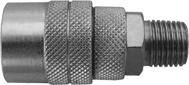 """Адаптер на шланг """"FIT"""" с американским типом запорного клапана. Предназначен для соединения с пневматической линией, инструментом, компрессором. Характеристики: Материал: сталь. Резьба: М13. Шаг резьбы: 1,5 мм. Под ключ: S = 17. Размер: 2,5 см х 2,5 см х 5,5 см. Размер упаковки: 7 см х 3 см х 12 см."""