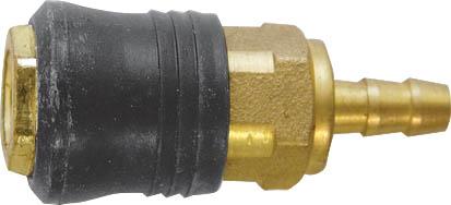 Адаптер быстросъемный FIT с прямым подключением шланга81155Адаптер быстросъемный с запорным клапаном FIT универсального типа предназначен для прямого подключения шланга. Совместим с ниппелями всех типов. Характеристики: Материал: латунь. Под ключ: S = 20 Размер: 2,5 см х 2,5 см х 6 см. Размер упаковки: 7 см х 2,5 см х 12 см/