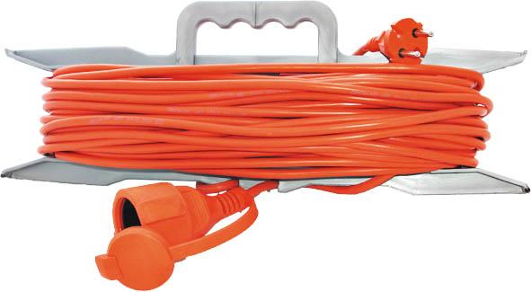 Удлинитель на рамке без заземления Universal, 10 м83251Удлинитель UNIVersal с одной розеткой предназначен для строительных объектов с удаленным источником энергии. Двойная изоляция ПВХ силового удлинителя обеспечивает ему дополнительную защиту от внешних факторов. Максимальная нагрузка - 1300 Вт, 6А. Не рекомендуется использовать во влажных и химически активных средах. Характеристики:Длина провода: 10 м.Максимальная мощность: 1300 Вт.Максимальный ток: 6 A.Провод: 2х0,75 мм.Толщина провода: 5 мм.Размер упаковки: 48 см х 38 см х 5 см.