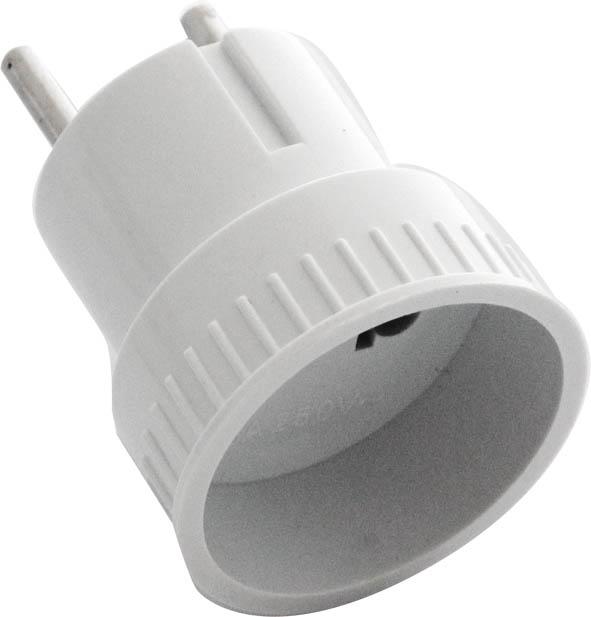 Адаптер-переходник UNIVersal, без заземления.А10983316Адаптер-переходник UNIVersal применяется для подключения электроприборов с вилкой европейского стандарта к розеткам российского стандарта до 250 Вт, изготовлен из АБС пластика белого цвета. Характеристики: Материал: металл, пластик. Размеры адаптера: 6 см х 4,5 см х 4,5 см. Размеры упаковки: 17 см х 9 см х 5 см.